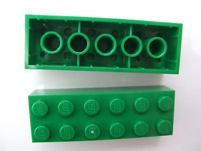 - 4181135 2 x Lego Green Brick size 2x6 Parts /& Pieces