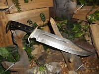 Timber Rattler/western Outlaw/bowie/knife/machete//survival/damascus/scratch&d