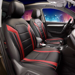 Deluxe-Leatherette-Air-Mesh-with-Non-Slip-Backing-Car-Cushion-Pad-Front-Red