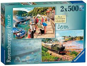 Jigsaw-Puzzle-PICTURESQUE-LANDSCAPES-Devon-Yorkshire-Artist-Family-Game-x-2