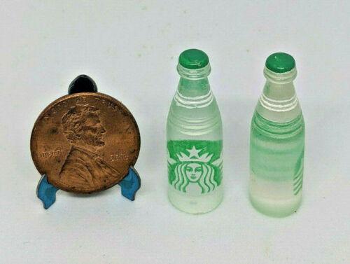 2pcs Dollhouse Miniature Starbucks Water Bottle Prop Tiny Drink Groceries 112