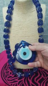 TURKISH-EVIL-EYE-Glass-Lucky-Wall-Home-Amulet-Protection-Decor-HEAVY-DECOR