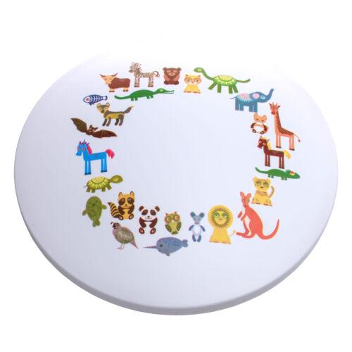 LED Deckenlampe weißes Metall Acrylschirm mit Muster Dimmbar Kinderzimmer