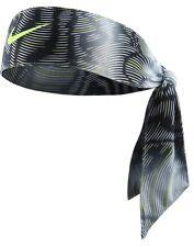 New Womens Nike Head Tie Skylar Diggans 2.0 Black /volt Headband Tennis Running