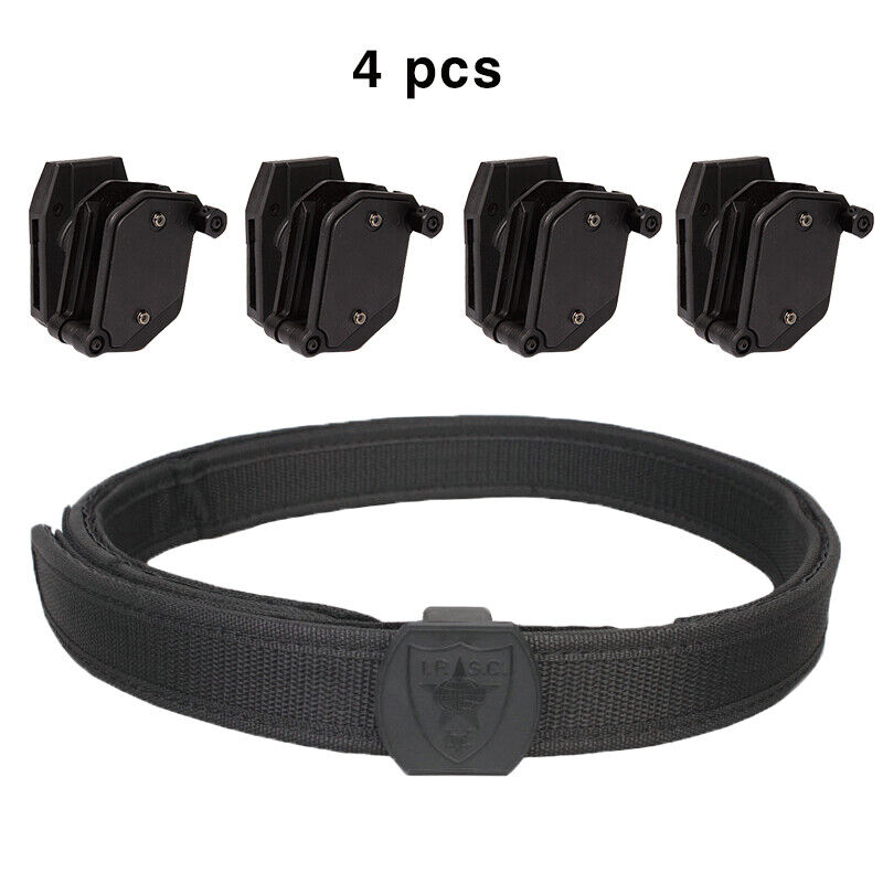 IDOGEAR Tactical Belt  IPSC USPSA 1.5  Shooting  w 4 Multi-Angle Pistol Mag Pouch  clients first reputation first
