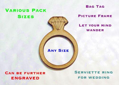 Anillos De Diamantes Tamaños Desde 25 mm a 150 Mm Mdf Diferentes Tamaño paquetes de 2 a 25 # 01