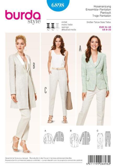 Burda 6898 Sewing Pattern Ladies Jumpsuit Combination Blazer ...