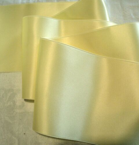 "BUTTERCREAM 4/"" WIDE SWISS DOUBLE FACE SATIN RIBBON BY THE YARD MAIS"
