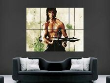 RAMBO SYLVESTER STALLONE WALL POSTER ART PICTURE PRINT LARGE  HUGE