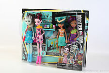 Monster High Ice Scream Ghouls 4 Pack Frankie Stein Draculaura Clawdeen Cleo