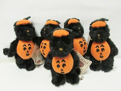 Boyds #567944-3 MINIATURE Punkin Pals Black Cat Jack-O-Lantern Costume Brand New