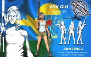1-35-Scale-Resin-Figure-Model-Kit-VDV-Russian-Sexy-Girl-Female-Unpainted
