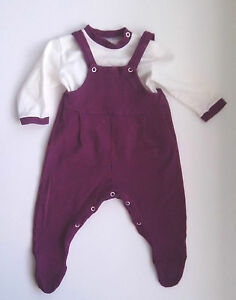 1970s-Baby-Two-Piece-Playsuit-Red-and-Blue-pattern-size-Birth-to-20-lbs