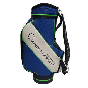 NEW-2019-Diamond-Tour-Golf-Staff-Bag-6-Full-Lined-Dividers-10x9-Inch-Top
