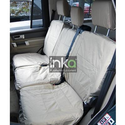 Land Rover Defender 3rd Row Inka Tailored Waterproof Seat Covers Grey MY07-13