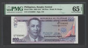Philippines 100 Piso 2005-10A P194b Uncirculated Grade 65