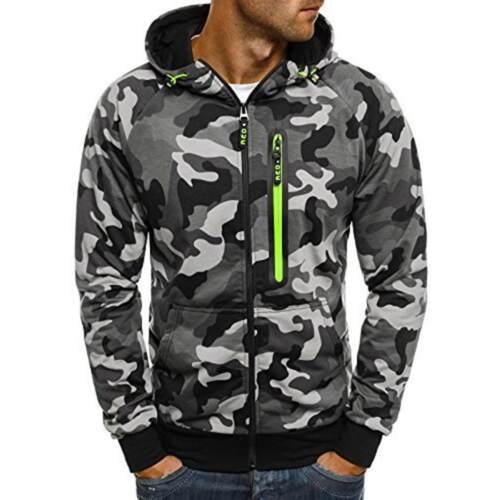 Men/'s Outwear Winter Camo Hoodies Warm Jumper Coat Jacket Hooded Sweatshirts