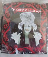 Nip Elope Corpse Hair Wig Long Black Strands Ghost Ghoul Witch Vampire Hag C12