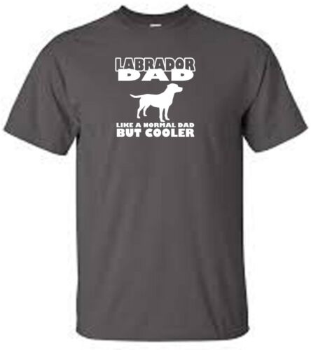 labrador dad dog walking t shirt all dog breeds available