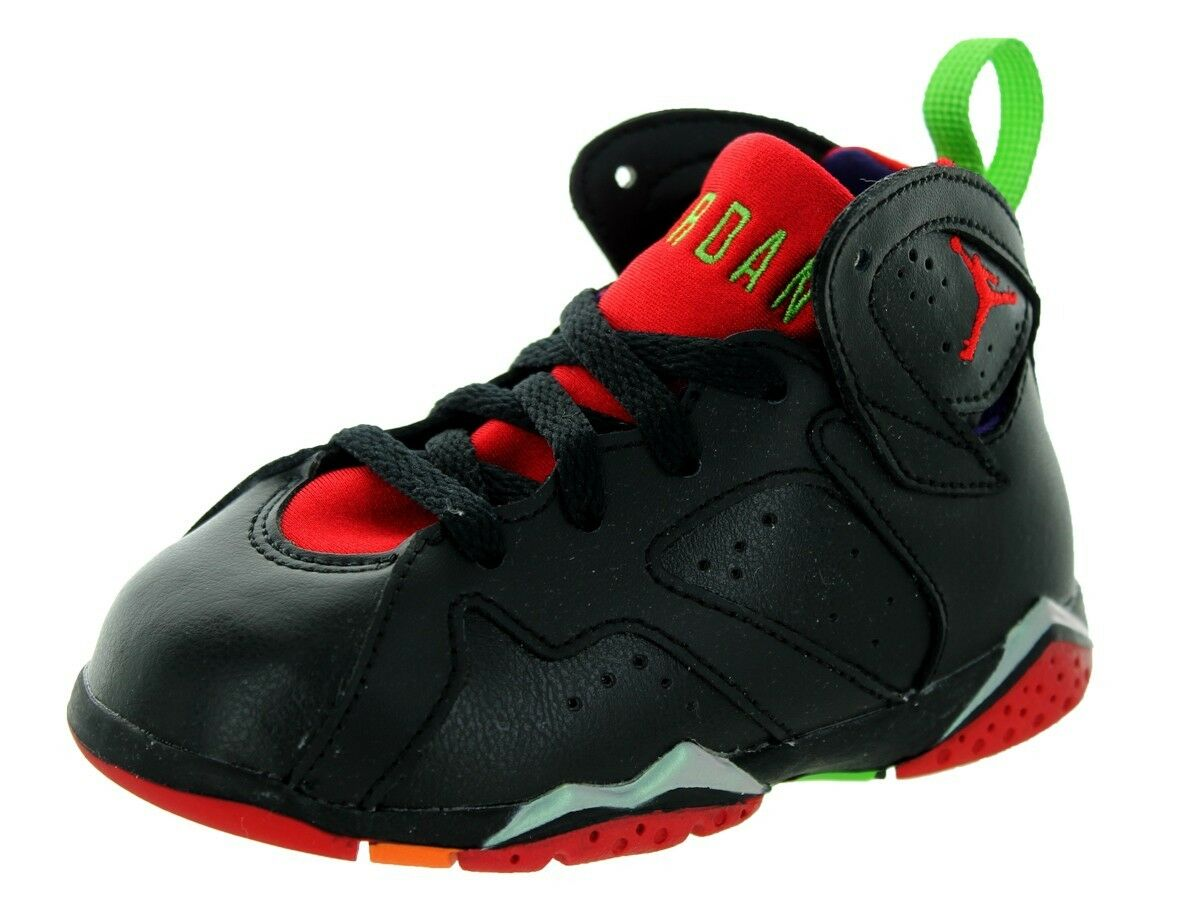 AIR JORDAN RETRO 7 TD 304772-028 TODDLER MARVIN VII MARTIAN BRED NEW SPACE JAM New shoes for men and women, limited time discount
