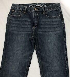 b8bd202f Kenneth Cole Reaction Jeans Men Size 31W x 32L Straight Blue Denim ...