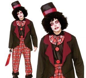 Adulto Uomo Pagliaccio Spaventoso Zombie Halloween Costume Circo Vestito Da