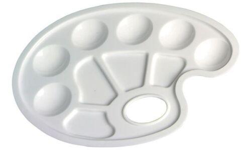 herlitz Farbmisch Palette aus Kunststoff oval weiß Mischpalette Farbpalette