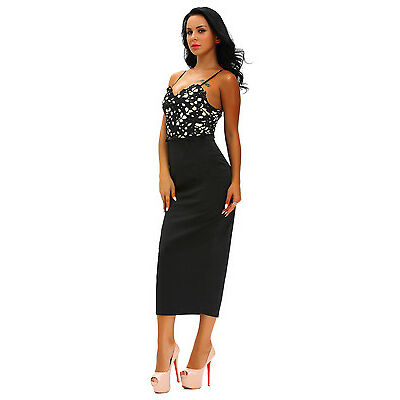 Boldgal Black Western Partywear Women Cocktail Lace Evening Bodycon Dress