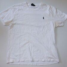 Men's White Polo By Ralph Lauren Short Sleeve T Shirt Size M Mens Navy Logo