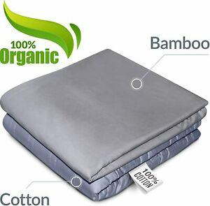 """RONGO Weighted Blanket Premium Comforter 60/"""" x 80/"""" 25 lbs Minky+Bamboo Cover"""