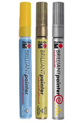 11 Farben zur Wahl Marabu Brilliant Painter Lackmalstift 0,8 mm-Spitze