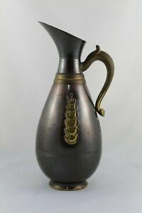 Antigua Jarra Metalica para Vino Agua, Realizada en Holanda Año 1957 - 2 Litros.