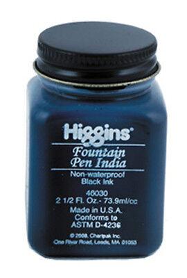 Higgins Fountain Pen India Ink - Black  2.5oz
