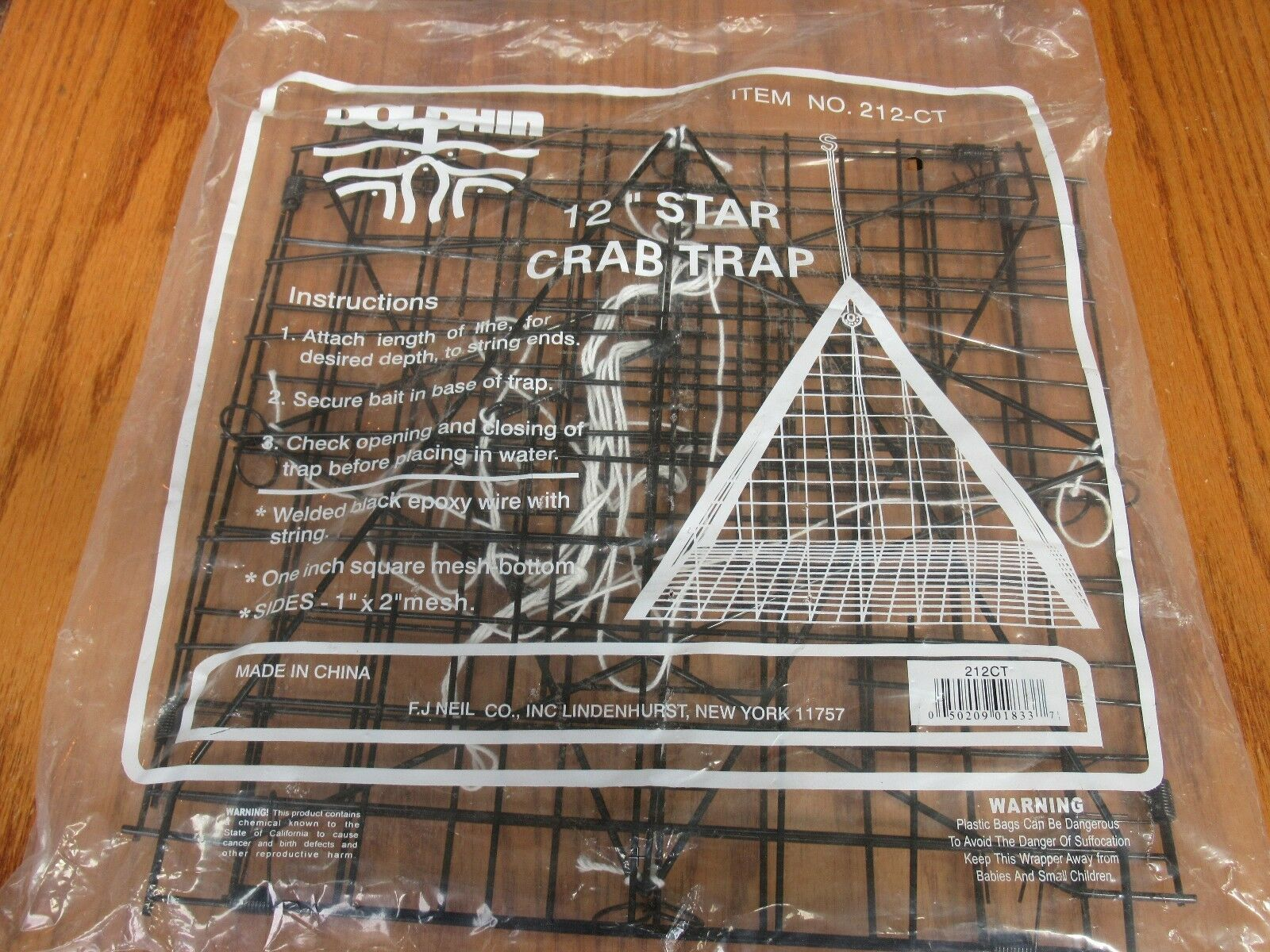 12 DOLPHIN STAR TRIANGLE CRAB TRAP POT 212-CT 12  INCH CRABBING FISHING  zero profit