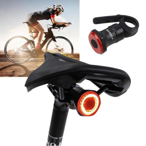 MEROCA USB Rechargeable Rear Light Lamp MTB Bike LED Saddle//Seatpost Lights
