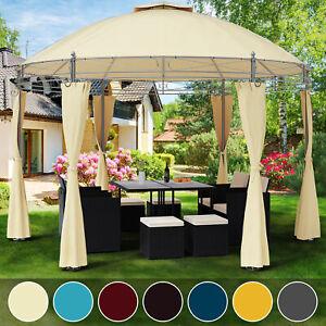 Détails sur Tonnelle Toscana Ø 3,5 m - Pavillon - Tente de jardin - Barnum  rond Jardin