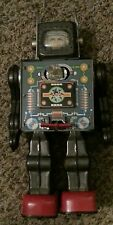 RARE Vintage 1950 Horikawa Mr Hustler Astronaut Tin Space Robot JAPAN Working