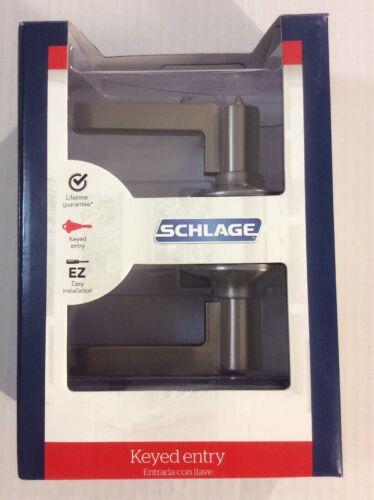 Schlage F51 V LAT 619 Latitude Lever Satin Nickel Keyed Entry Door Lock Lockset