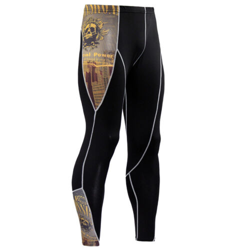 Mens Compression Armour Base Layer Top Thermal Tee Shirt Leggings Trousers Pants