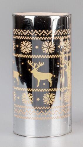 Formano Winterliche LED-Kerze silber 15cm 620811A