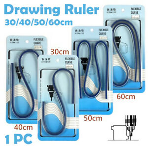 Drawing-Curve-Ruler-Flexible-Plastic-Drafting-Drawing-Pattern-Tool-30-40-50-60cm