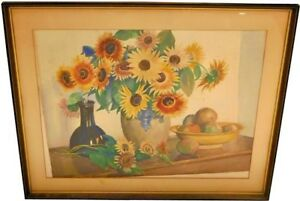 GEORGE-LAURENCE-NELSON-AMERICAN-1887-1978-CONNECTICUT-STILL-LIFE-WATERCOLOR