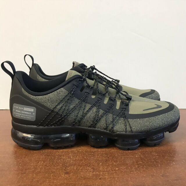 Nike Air Vapormax Run Utility Wolf Grey Black Amarillo Aq8810 010 Size 11