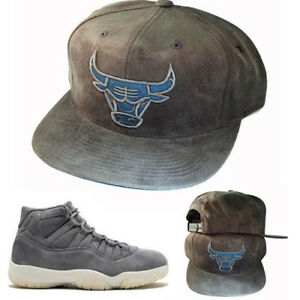 5805fd04426 Mitchell & Ness Chicago Bulls Snapback Hat Match Air Jordan 11 Grey ...