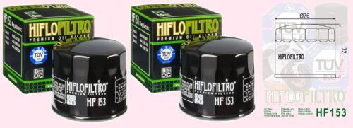 2x HF153 Oil Filter for     Ducati    1200 Multistrada         2010 to 2016