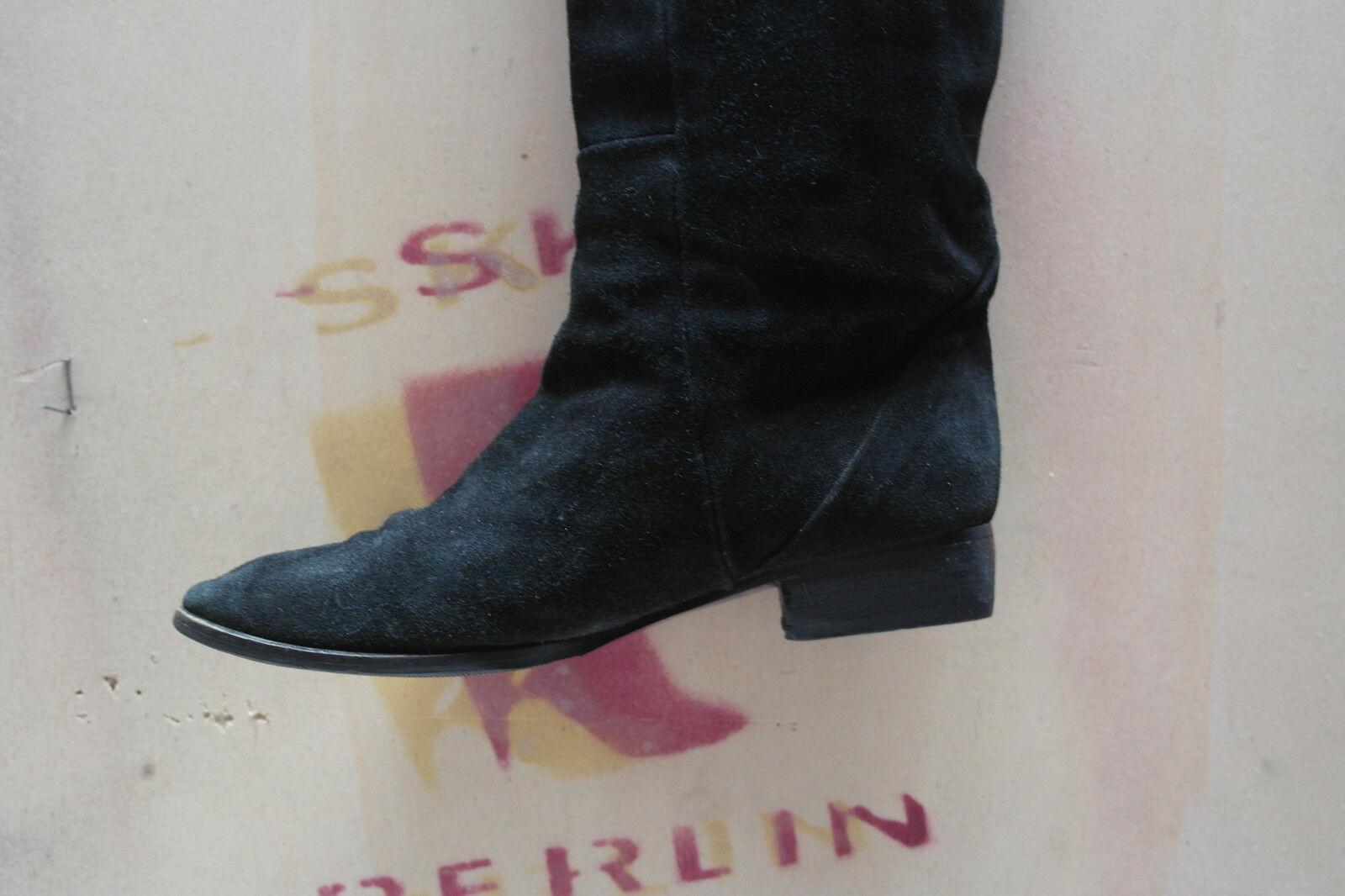 Femmes Jambières Bottes Bottines Bottines Bottines Chaussures Noir sexy true vintage velour c2e52e