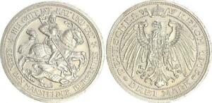 Prussia-3-Mark-Leicester-1915-a-Extremely-Fine