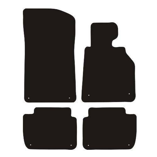 BMW 3 Series E46 2 Door Convertible 98-06 Tailored Black Carpet Car Floor Mats