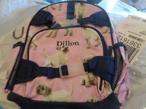 Pottery Barn Kids Mackenzie Small Backpack Pink Puppy