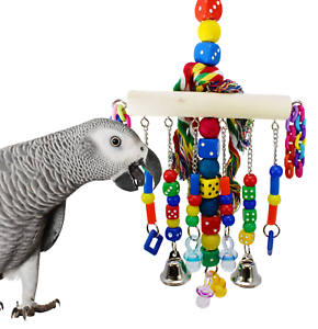 879 CHAIN WATERFALL BONKA BIRD TOY parrot cage toys cages African grey amazon